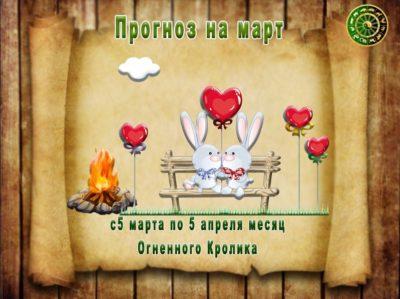 Гороскоп на март месяц Огненного Кролика