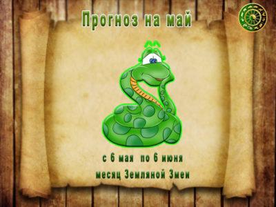 Прогноз на май — месяц Земляной Змеи