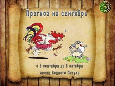 гороскоп на сентябрь месяц Водного Петуха
