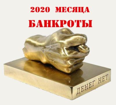 Месяца Банкроты 2020 год